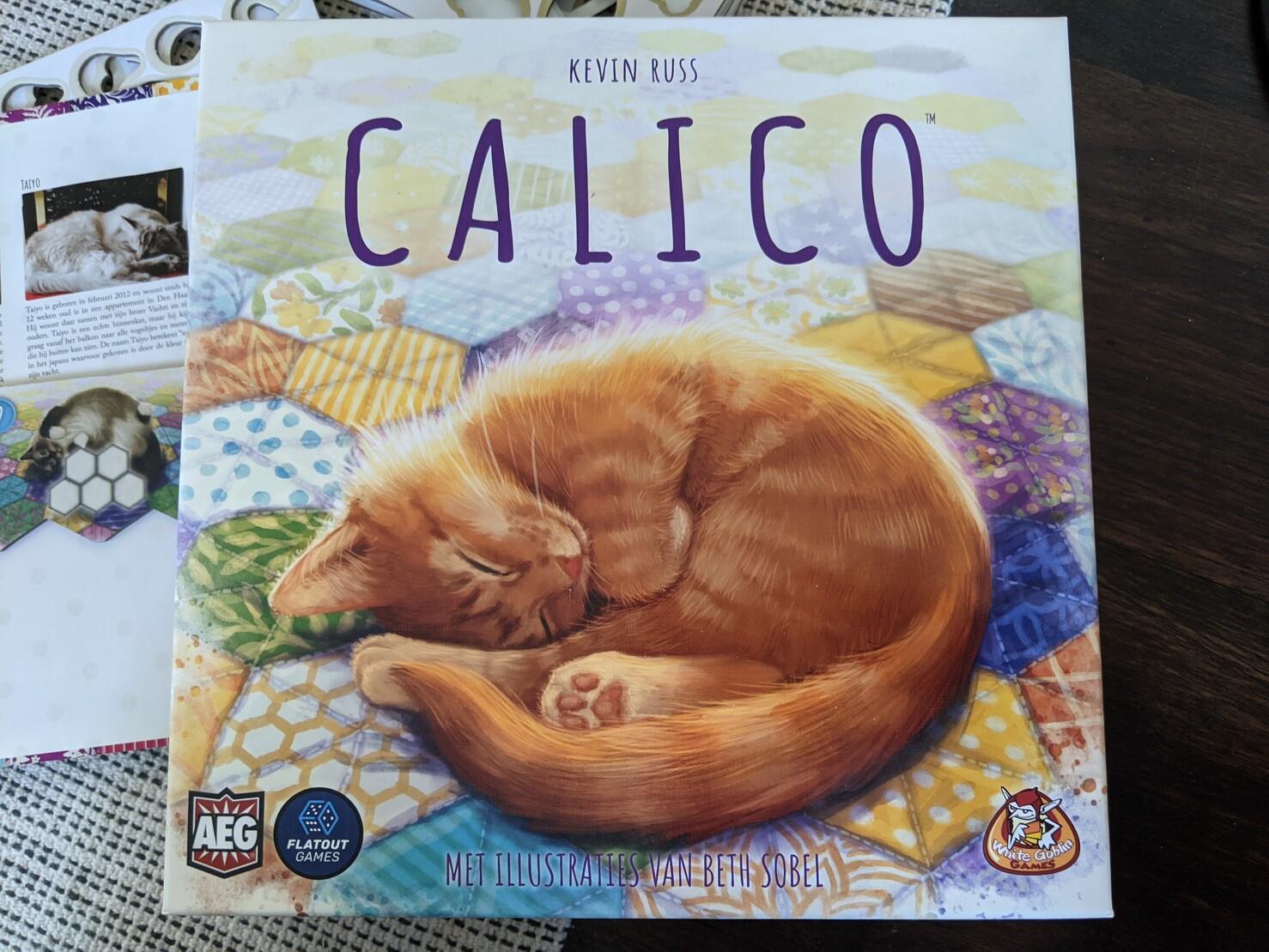 Box art of a sleeping cat